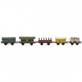 5 Märklin Wagons Gauge 0
