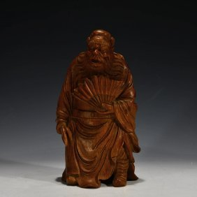 Chinese Bamboo Carving Figure
