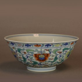 A Doucai Bowl, Marked Qing Dynasty Yongzheng Period