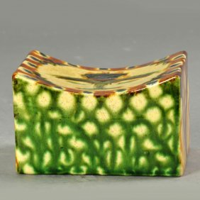 Chinese Sancai Ceramic Pillow