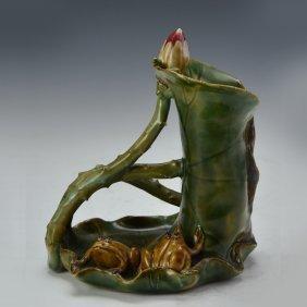 Chinese Frog Porcelain Pendant