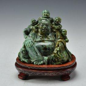 Chinese Turquoise Maitreya Buddha