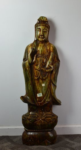 Chinese Carved Jade Statue