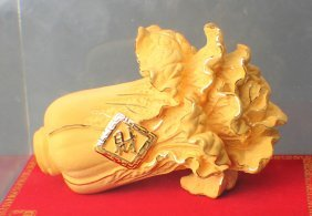 A Gilt Cabbage Decoration