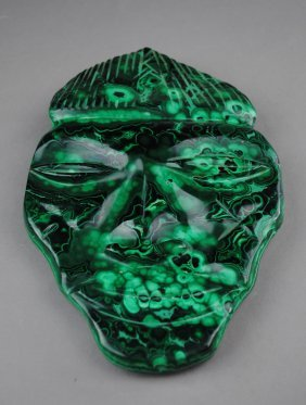 A Malachite Face-mask