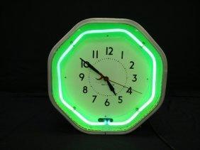 Neon Advertising Clock