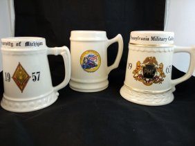 Collection Of College Steins (3 Steins)