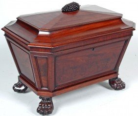 WILLIAM IV MAHOGANY CELLARETTE, ATT. JAMES SEDDON,