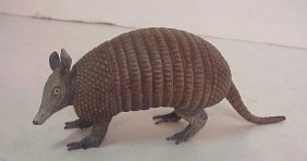 "Vienna Patinated Bronze Armadillo Figures 3""h X"