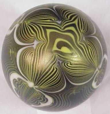 7 Vandermark Art Glass Paperweight Dated On Base 1977