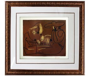 Femme Couche Et Homme - Picasso