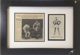 Ray Robinson - Signed Photo W/ News Article