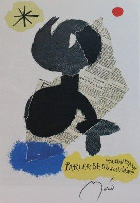 Tristan Tzara Parler Seul - Joan Miro