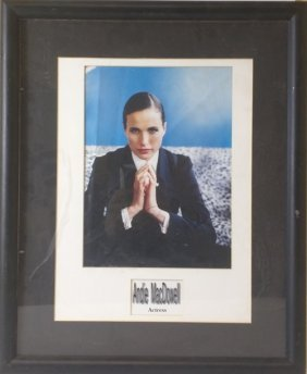 Andie Macdowell - Signed Photo