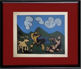 Two Satyrs And Goat - Picasso