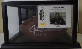 "Authentic ""jim Brown"" Signed Football"