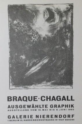 Braque - Chagall Exhibition Poster Print