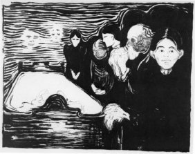 By The Deathbed 1896' - Edvard Munch