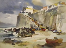 Watercolor Painting - Robert E Wood