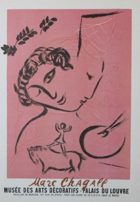 The Painter In Pink 1959' - Marc Chagall