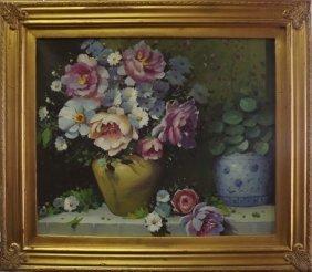 Vase With Flowers - Original Painting