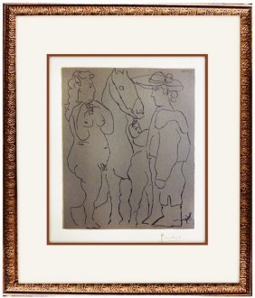 Picador, Woman And Horse - Pablo Picasso