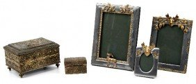 JENNING BROS. GILT BOX W/ RUSTIC PICTURE FRAMES