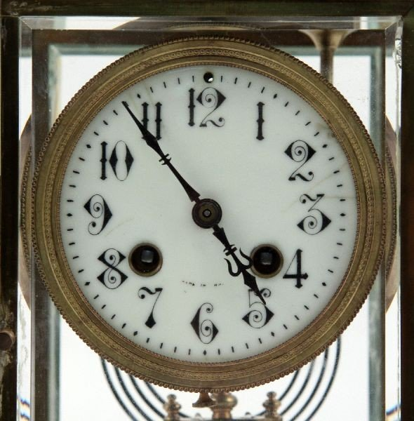 ANTIQUE FRENCH MEDAILLE DARGENT 1889 MANTLE CLOCK : Lot 2085