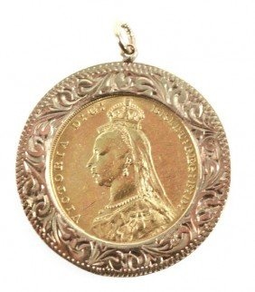 1888 GOLD SOVEREIGN PENDANT - VICTORIA JUBILEE