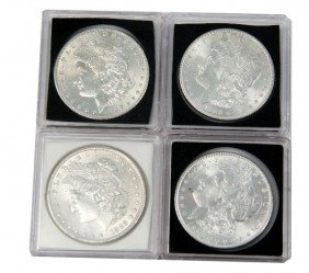4 MINT STATE MORGAN SILVER DOLLAR LOT