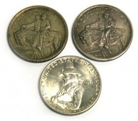 2 STONE MOUNTAIN 1 PILGRIM COMMEMORATIVE COIN LOT