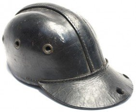 GERMAN LEATHER COAL MINERS CAP