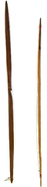 TWO NATIVE AMERICAN BOWS