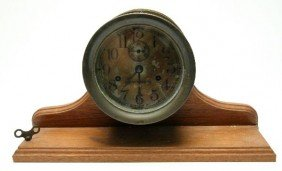 BRASS SETH THOMAS SHIPS STRIKE CLOCK