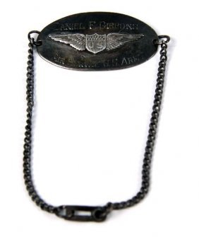 WWI ARMY AIR SERVICE PILOTS ID BRACELET NAMED