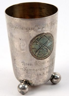 WWII SILVER SHOOTING AWARD CUP 835 SILVER ENGRAVED