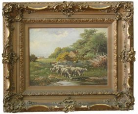 FRAMED & SIGNED MARQUIS AUGUST BOUILLE PAINTING