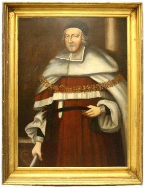 PORTRAIT OF SPANISH CLERGYMAN EL GRECO STYLE