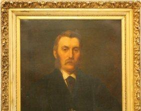 19TH CENTURY PORTRAIT OF A GENTLEMAN IN STUDY