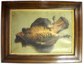 18TH 19TH CEN HUNTING STILL LIFE SIGNED FRAGNEAU
