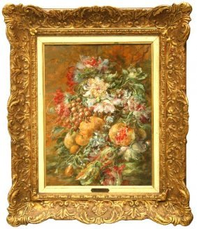 SIGNED ANTONIOLI FLORAL STILL LIFE PAINTING
