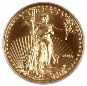 ICG MS70 1 OZ $50 AMERICAN GOLD EAGLE COIN 2006