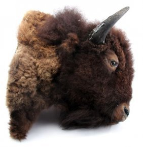 MONTANA TAXIDERMY BUFFALO HEAD MOUNT