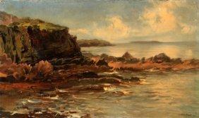 John Brett (british, 1831-1902) Oil On Canvas