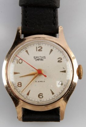 Mens Vintage Smiths Empire Jeweled Mvmnt Watch