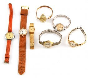 Small Lot Of Seven Vintage Ladies Watches