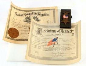 Civil War Gar Medal Numbered With Provenance