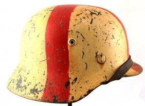 German Wwii Army Medic M-40 Combat Helmet