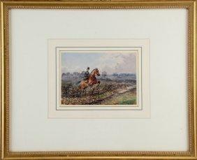 Henry Frederick Lucas Lucas Equestrian Watercolor