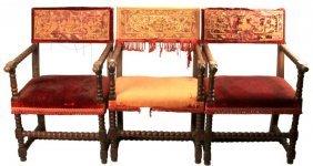 Dupont Estate Antique Italian Walnut Armchairs